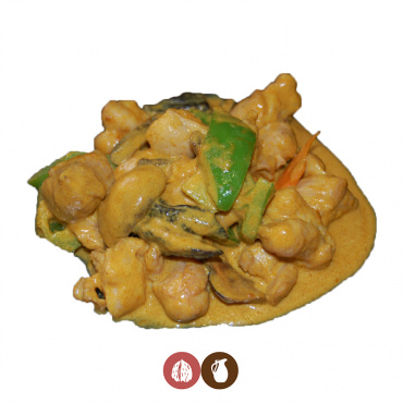 44.pollo con salsa curry