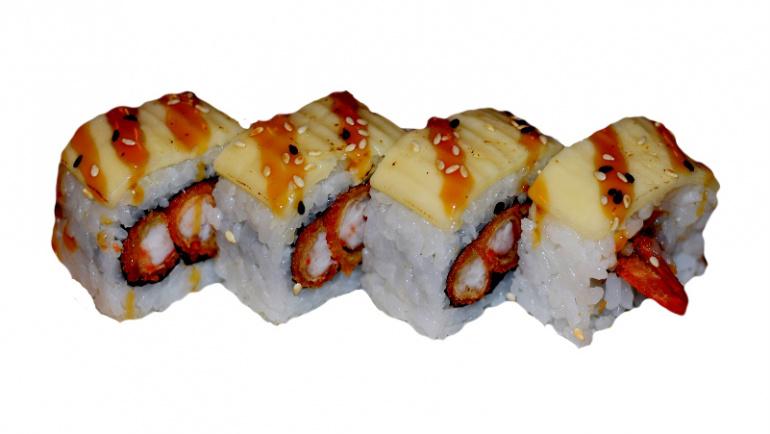 71.uramaki tempura langostinos y queso
