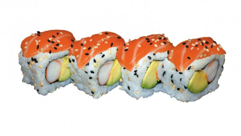 73.uramaki salmÓn, aguacate y cangrejo