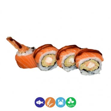 76.uramaki langostinos y salmón
