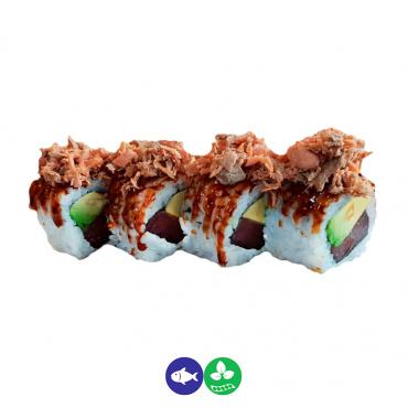 77.uramaki atÚn, aguacate y salmón frito