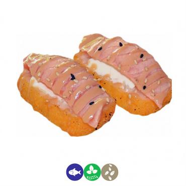 84.salmón,queso y arroz frito