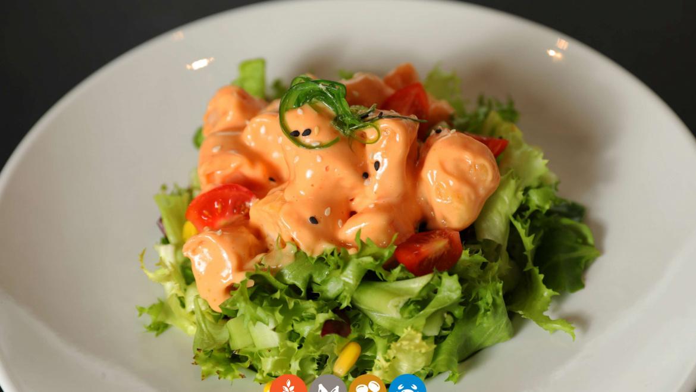 8.Ensalada tempura langostino